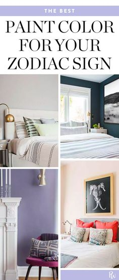 Here's What Color You Should Paint Your Bedroom, According to Your Zodiac Sign #purewow #decor #home #horoscope