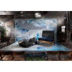 carrelage ancien mat bleu 33 x 33 cm fs1104006 - Carrelage Retro Vert