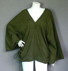 Hippie Bohemian Olive Green Cotton Kimono by HippieGypsyBohemian, $32.00