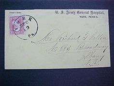Envelope sent from a soldier patient in the US Army Hospital in York in December.