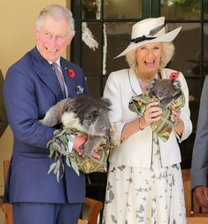 Charles and Camilla posed with the koalas in Adelaide, Australia, in 2012. Image Source: Getty / Chris Jackson Pictures of the British Royals With Animals | POPSUGAR Celebrity UK