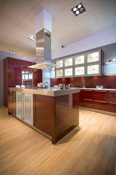 Schuller high gloss ruby red modern kitchen