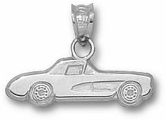 """Chevy Corvette Classic Car 1/4"""" Lapel Pin - Sterling Silver Jewelry by Logo Art. $45.19. You often see shirts, caps and jackets that feature logos from your favorite affiliation, phrase, hobby and sport. Now you can add high quality jewelry products to the list!You will love the exciting collections available! There are also more than 300 universities and sports teams to choose from so you can build a collection that is perfect for you.Logo Art manufactures the broa..."""