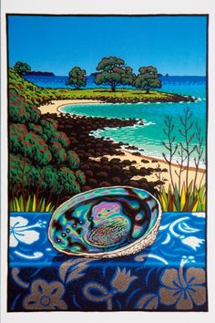 Tony Ogle continues to be drawn to locations off the beaten track,mostly untouched niches of the land and coastline that convey a quality of timelessness to him. Available to buy or lease at Art Bureau Gallery. New Zealand Image, New Zealand Art, Nz Art, Art For Art Sake, Maori Art, Amazing Street Art, Nautical Art, Tropical Art, Surf Art