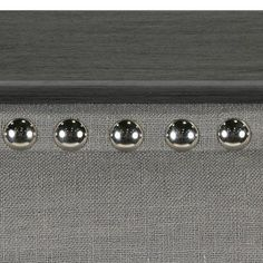 Darby Home Co Elienor Metal Headboard with Steel Upholstery and Nail head Trim Size: Queen