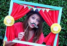 could do something like this with other props for a photo booth*