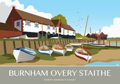 Burnham Overy Staithe. Available in portrait and landscape at whiteonesugar.co.uk
