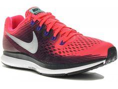 Chaussure Nike Air Zoom Pegasus 34 : une valeur sûre revisitée.  Retrouvez l\'ADN de la Pegasus 33 amélioré au coeur de la chaussure Nike Pegasus 34 pour femme à foulée universelle.