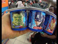 Vingadores Homem de Ferro Capitão América Hulk Thor  Danone Pai Filho Me...