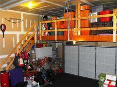 Garage Storage. Way Cool Idea, Reminds Me Of My Uncles Garage.
