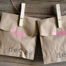 Put something in each bag and every day let your kids open one