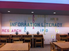 The wall I created in my middle school Media Center.