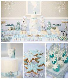 Frozen Winter Wonderland Birthday Party via Kara's Party Ideas KarasPartyIdeas.com Cake, printables, desserts, favors, food, and more! #frozen #frozenparty #winterwonderland #winterwonderlandparty #winterpartyideas (2)