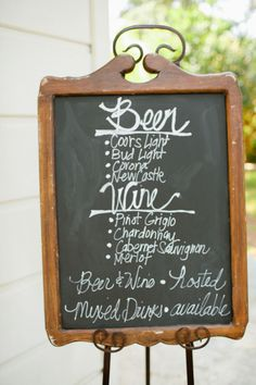 drink options listed on chalkboard // photo by bvaphoto.com