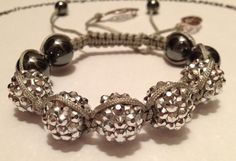 Shamballa Style Bracelet with Acrylic and Hematite by URBANQUEST, $19.95