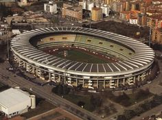 Football Stadium in Verona, Italy. Stadio Marc'Antonio Bentegodi is home of the clubs Hellas Verona and Chievo Verona