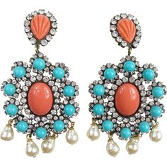 Gorgeous Huge Kenneth Lane Earrings