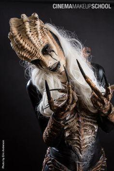 "Shay Zee and Luis Vega, ""Shaytailien"" for Cinema Makeup School, photo by Eric Anderson Photographic Body Makeup, Makeup Art, Sfx Makeup, Character Makeup, Character Design, Cinema Makeup School, Alien Photos, Prosthetic Makeup, Monster Makeup"