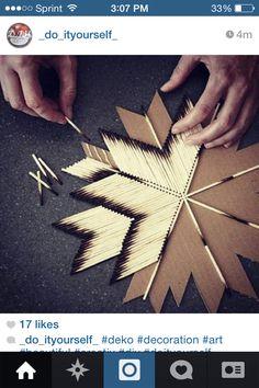 41 Creative DIY Hacks To Improve Your Home - Stern aus Streichhölzern basteln. - 41 Creative DIY Hacks To Improve Your Home - Stern aus Streichhölzern basteln. Cute Crafts, Crafts To Do, Arts And Crafts, Diy Crafts, Retro Crafts, Hand Crafts, Bible Crafts, Garden Crafts, Diy Hacks