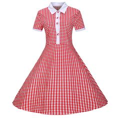 Cheap dresses for tall women, Buy Quality dress party dress directly from China dress corsage Suppliers: 40s 1950s 60s Vintage Retro Rockabilly Dress 2016 Summer Style Black Red Blue Plaid T Shirt Dress Tunic Swing Party Dre