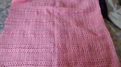 "This beautiful blanket is hand crocheted by my mom. It is made out of Red Heart yarn in a beautiful pink color.   Blanket measurement is roughly 36"" x 36"".   Machine wash gentle cycle or hand wash. Lay flat to dry.   This blanket was made in a smoke free but very pet friendly home.   To purchase this item check out my Etsy shop at https://www.etsy.com/shop/tinastreasures0309  #nopayments  #onepennyatatime  #payingcashformyhouse"