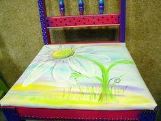 Handpainted Daisy chair