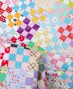 nine patch quilt images | Nine Patch Checkerboard Quilt | Red Pepper Quilts