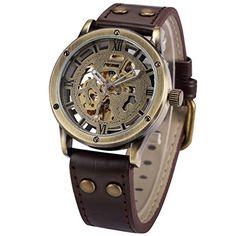 AMPM24 Vintage Bronze Roman Automatic Mechanical Mens Skeleton Brown Leather Strap Wrist Watch PMW362, http://www.amazon.com/dp/B00L7QCAH2/ref=cm_sw_r_pi_awdl_A9.5ub185Z4CG