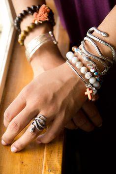 Metal+Snake+Ring+&+Bracelet