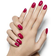 really red ❤ liked on Polyvore featuring beauty products, nail care, nail polish, nails, makeup, beauty, unhas and red nail polish