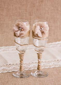 Boda Champagne tostado gafas guita boda flautas de champán