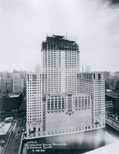 The Civic Opera under construction, 1929