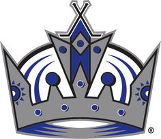 Los Angeles Kings Primary Logo (2003) - A silver and purple crown