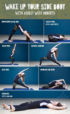 Side Body Yoga Sequence with Ashley West Roberts - Namaste by carrie