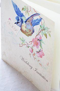 custom bluebird wedding invite design fee by queridastudio 50 00