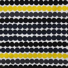 Latest Designer Fabric 'Rasymatto in White, Grey, Black and Yellow' by Marimekko (FIN). Buy online or visti our fabric retail store in Christchurch. Ottoman Inspiration, Lounge Decor, Black N Yellow, Charcoal Black, Bright Yellow, Marimekko, Surface Pattern Design, Lampshades, Curtains