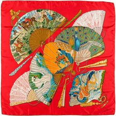 Hermes Silk Scarf, 'Brise de Charme' by Julia Abadie   From a collection of rare vintage scarves at https://www.1stdibs.com/fashion/accessories/scarves/