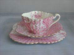 Joseph Shelley, Wileman & Co,  Staffordshire (England) — Tea Cup Trio 'Pink Dolly Varden', c.1890  (500x370)