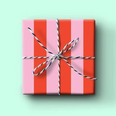 "Make your gift giving colorful and creative with our thick stripe gift wrap. Each roll comes with 2 20x29"" thick matte gift wrap sheets.Available in bulk (non-rolled): 6 sheets12 sheets24 sheets Birthday Gift Wrapping, Birthday Tags, Christmas Gift Wrapping, Birthday Gifts, Pink Wrapping Paper, Wrapping Presents, Personalized Stationery, Paper Gifts, Red And Pink"