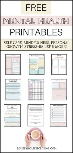 Free mental health and personal development printables for self-discovery, stres. - Free mental health and personal development printables for self-discovery, stress-relief, and ultim - Free Mental Health, Mental Health Journal, Mental Health Activities, Improve Mental Health, Oral Health, Health Benefits, Health Tips, Health And Wellness, Health And Beauty