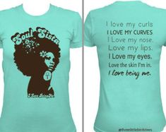 I Love Being Me Naturally by ThreeLittleBirdsTees on Etsy
