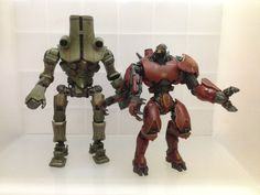 They both are my favorite jaegers. The jaegers are colossal robotic war machines and built as the last line of defence against kaiju monsters on Pacific Rim.  The tall one is Cherno Alpha, the Russian jaeger, the biggest and the oldest jaeger still active in combat.  Aside Cherno Alpha, there is Crimson Typhoon, a Chinese jaeger piloted by Wei Tang Triplets. Crimson Typhoon is accredited with the successful defense of the Port of Hong Kong seven times.