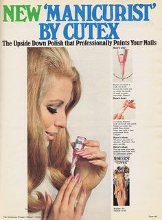 Cutex 'Manicurist' Nail Polish Ad, 1968
