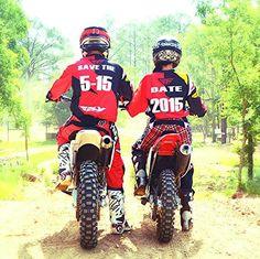 Super Dirt Bike Wedding Ideas Save The Date Ideas Motocross Wedding, Motocross Couple, Dirt Bike Wedding, Bike Couple, Motocross Girls, Engagement Pictures, Wedding Pictures, Wedding Ideas, Wedding Goals