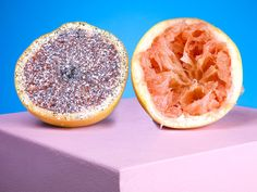 haha, I glitteryfied a grapefruit on the outside, didn't think about doing it on the inside. But I really like this!