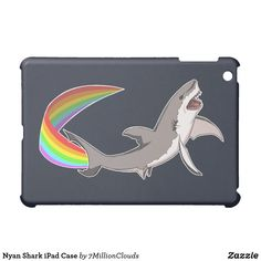 Nyan Shark iPad Case @zazzle #zazzle #phone #phonecase #case #tech #products #accessories #fashion #product #style #accessory #buy #shop #shopping #sale #gift #gifting #mensfashion #womensfashion #shark #rainbow #funny #tablet #tablets