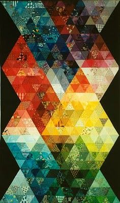 "Simply stunning. The quilt is called ""1000 rainbow pyramids"" by Priscilla Bianchi"