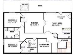 bungalow with walkout basement plan 2011545 - Basement Designs Plans