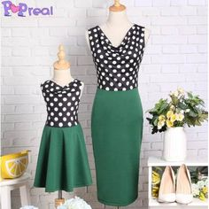 0e764cab7 Buy Mom Girl Polka Dots Dress online with cheap prices and discover fashion  Mommy &
