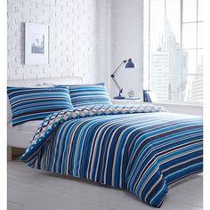 Home Collection Basics Blue 'Jackson Stripe' bedding set- at Debenhams.com